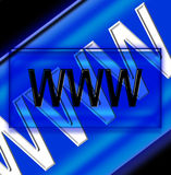 WWW 3. The WWW symbol Stock Images