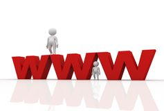 Www with 3d men Royalty Free Stock Photo