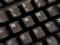 WWW. A photo of a keyboard with WWW keys Stock Photos