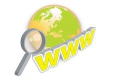 WWW illustration stock