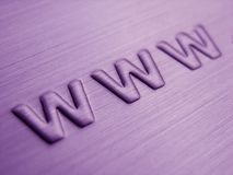 WWW abstrato Imagens de Stock