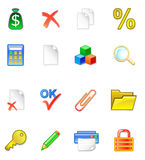 WWW accountant icons Stock Photography