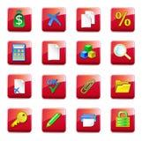 WWW accountantspictogrammen stock illustratie