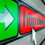 WWW-Adresse stockfoto