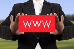 WWW-Adresse Lizenzfreies Stockbild