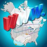 WWW. Amérique du Nord Photo libre de droits