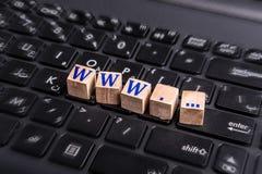 WWW auf Laptop Lizenzfreie Stockfotografie
