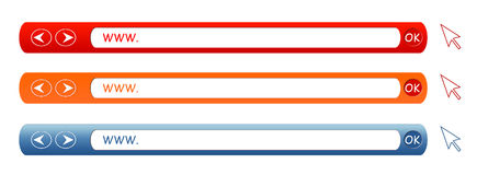WWW. Aufbau - verschiedene Farben Lizenzfreies Stockbild