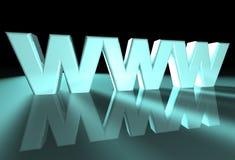 WWW azul Foto de archivo libre de regalías