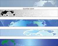 Www banner. Preparations the Internet of banners with a theme of a card the world Royalty Free Stock Photos