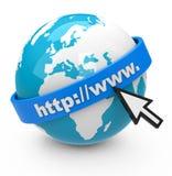 WWW-Bild eines Internet-Konzeptes stockfoto