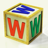 WWW Block Shows Internet Online And Webpage Royalty Free Stock Photography