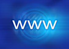 WWW Blue Royalty Free Stock Photography