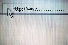 WWW Browser. Blank WWW Browser with arrow Royalty Free Stock Photography