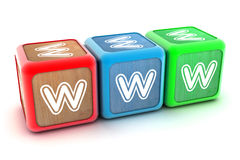 WWW Building Blocks Royalty Free Stock Image