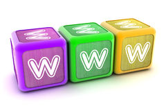 WWW Building Blocks Royalty Free Stock Images