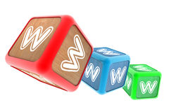 WWW Building Blocks Stock Photos