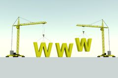 WWW building concept Stock Image