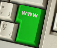 WWW button Stock Photo