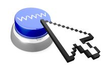 WWW button with cursor Stock Photography