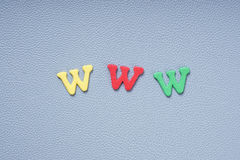 Www in colorful letters Royalty Free Stock Photos