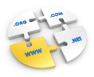 WWW, com, net, org Stock Photo