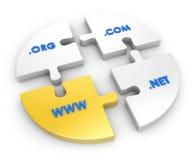 WWW, com, net, org Stock Photo