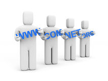 WWW, com, net, org. Global communication Stock Images