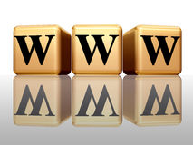 WWW com reflexão Fotografia de Stock Royalty Free