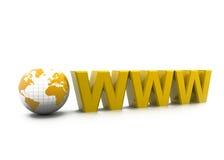 WWW con il mondo Fotografia Stock