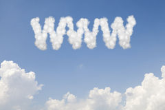 WWW concept text in clouds Royalty Free Stock Photos