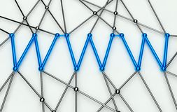 Www Conception, Communication in Web Network. Isolated Royalty Free Stock Photos