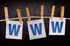 WWW, concepto de Internet Foto de archivo