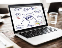 WWW Connection Data Communication Internet Concept Royalty Free Stock Image