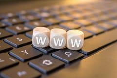 WWW découpe sur un carnet Photo libre de droits