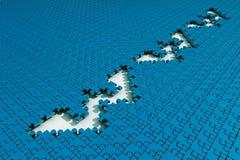 WWW dans le puzzle denteux Photo libre de droits