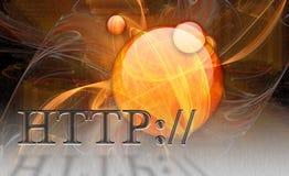 www de Monitor van WebHTTP Internet Royalty-vrije Stock Fotografie
