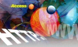 www de Monitor van WebHTTP Internet stock foto's