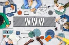 WWW-de Technologieconcept van de Netwerk Online Verbinding Stock Afbeelding