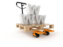 WWW delivery concept Stock Images