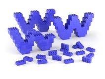 WWW der blauen Blöcke Lizenzfreie Stockfotos