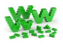 WWW der grünen Blöcke Stockbilder