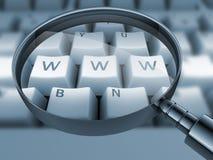 WWW druckte auf Tastatur, Stockbilder
