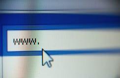 WWW e cursor imagens de stock