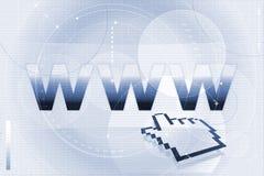 WWW e cursore Fotografia Stock Libera da Diritti