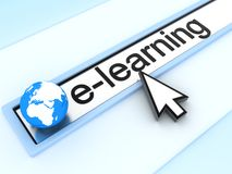 WWW e-learning. (done in 3d Stock Illustration