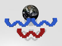 WWW - Earth - 3D Stock Photo