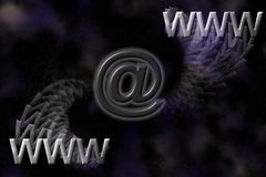 WWW and email background. Royalty Free Stock Image