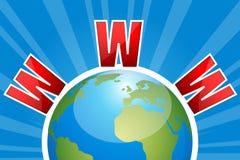 WWW en el globo Foto de archivo libre de regalías