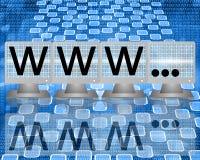 WWW en las pantallas de monitores Foto de archivo